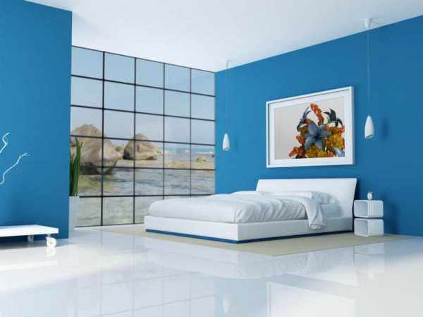 Cute color combinations for bedroom with blue and white. house color combinations   dehouses