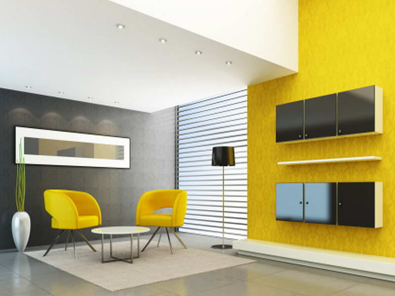 Living Room Theatre Color Combinations With Yellow And White Part 95